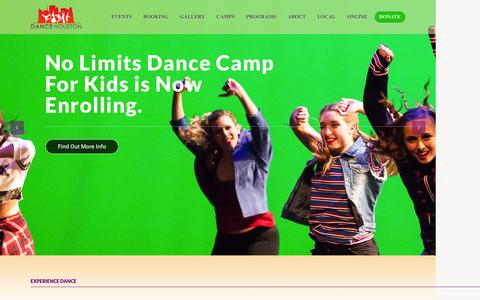 Screenshot of Home Page dancehouston.org - Dance Houston | Experience the Art of Dance - captured July 31, 2016