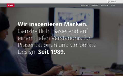 Screenshot of Home Page k16.de - About us - K16   Agentur - captured Sept. 4, 2015