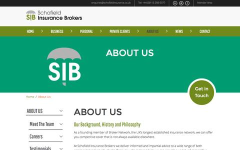 Screenshot of About Page schofieldinsurance.co.uk - Find Out More About Us | Schofield Insurance Brokers - captured Nov. 19, 2016