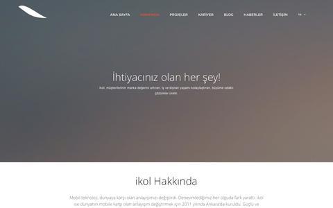 Screenshot of About Page ikol.com.tr - ikol Mobile - Hakkında - captured Feb. 11, 2016