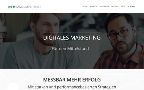 Screenshot of Home Page bamboo-internet.de - Bamboo Internet - AdWords, SEO & Webdesign Agentur in Berlin - captured Nov. 22, 2016