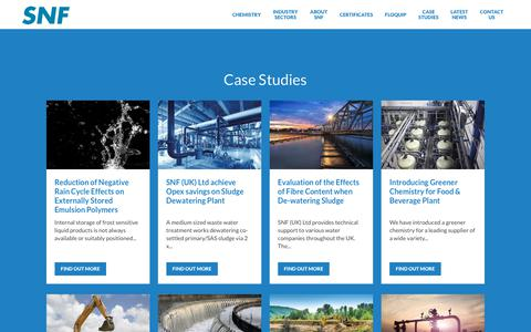 Screenshot of Case Studies Page snf.co.uk - Case Studies | SNF - captured July 21, 2018