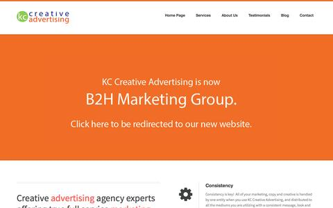 Screenshot of Home Page kccreativeadvertising.com - Your Full Service Ad Agency | KC Creative Advertising - captured Sept. 30, 2014