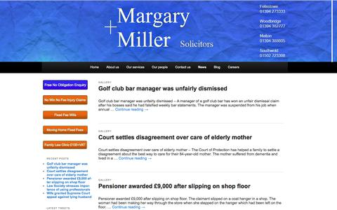 Screenshot of Press Page margary-miller.co.uk - News - Margary + MillerMargary + Miller | Solicitors in Suffolk serving East Anglia - captured Oct. 27, 2014