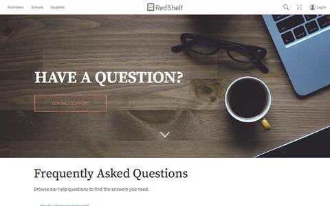 Screenshot of FAQ Page redshelf.com - RedShelf-FAQ RedShelf | Leading Supplier of eTextbooks | Rent or Buy eBooks - captured Dec. 6, 2016