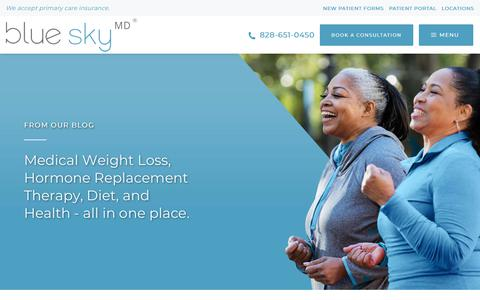 Screenshot of Blog blueskymd.com - Weight Loss Help | Weight Loss Articles, Nutrition & Wellness Blog - captured Oct. 20, 2019