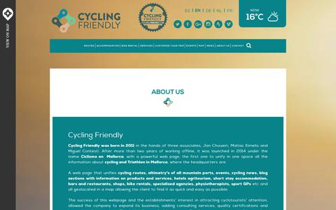 Screenshot of About Page cycling-friendly.com - About Us | Cycling Friendly - captured Nov. 15, 2018