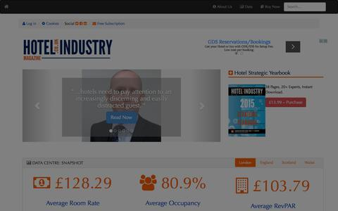 Screenshot of Home Page hotel-industry.co.uk - Hotel Industry Magazine - Hotel Industry Magazine - Intelligence for the UK's Hotel Industry  | Hotel Industry Magazine - captured Jan. 14, 2016