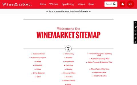 Screenshot of Site Map Page winemarket.com.au - WineMarket Sitemap - Navigate Our Site Easily - captured Dec. 5, 2016