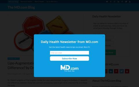 Screenshot of Blog md.com - The MD.com Blog - Health & Wellness Articles - captured Aug. 22, 2016