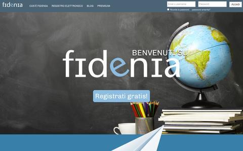 Screenshot of Home Page fidenia.com - Fidenia – Il social learning italiano (e-learning, social network, e-sharing, e-commerce) - captured Sept. 30, 2014