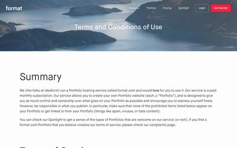 Terms of Service - Format