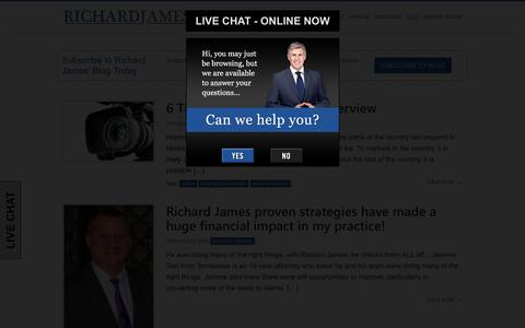 Screenshot of Blog therichardjames.com - Richard James - Law Firm Business Consultant Blog - Richard James - captured Feb. 6, 2016