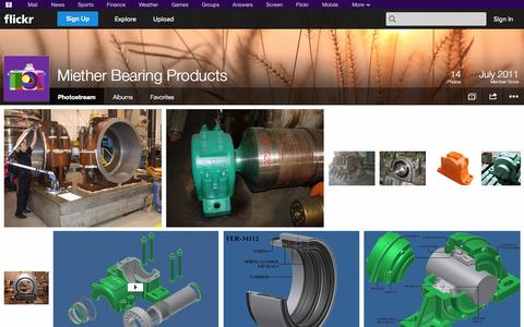 Screenshot of Flickr Page flickr.com - Flickr: Miether Bearing Products' Photostream - captured Oct. 26, 2014