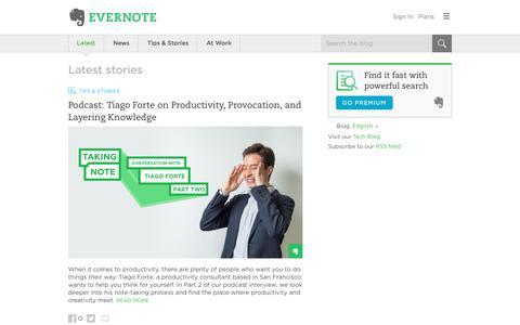 Screenshot of Blog evernote.com - Evernote Blog - Remember Everything. - captured June 6, 2017