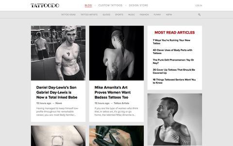 Screenshot of Blog tattoodo.com - Tattoo art, famous tattoo artists, guides and tattoo designs | Tattoodo.com - captured Sept. 26, 2015