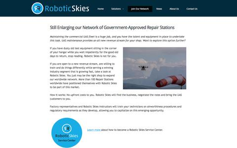 Screenshot of Signup Page roboticskies.com - Still Enlarging our Network of Government-Approved Repair Stations  |  Robotic Skies - captured Jan. 12, 2016