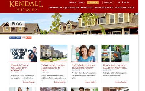 Screenshot of Blog kendallhomes.net - Blog - Kendall Homes - captured Oct. 20, 2016