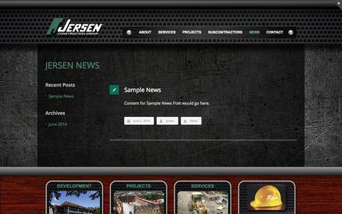 Screenshot of Press Page jersen.com - News - Jersen Construction - captured Oct. 6, 2014
