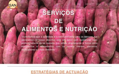 Screenshot of Home Page san.co.mz - SAN, LDA – Serviços de Alimentos e Nutrição - captured Oct. 1, 2018