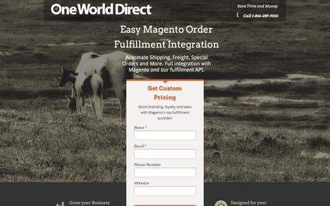 Screenshot of Landing Page owd.com - #1 Magento Order Fulfillment Integration | OWD.com - captured June 1, 2016