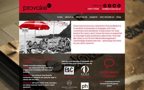 Screenshot of Team Page provoke.me.uk - Social media management Cambridge - engaging brand marketing - captured Oct. 3, 2014
