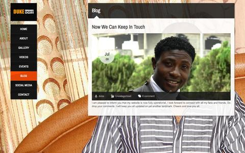 Screenshot of Blog dukeemmanuel.com - Blog | Duke Emmanuel Ogiri - captured Nov. 1, 2014