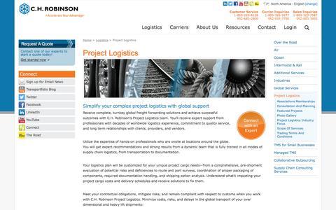 Project Logistics & Supply Chain Logistics | C.H. Robinson - C.H. Robinson