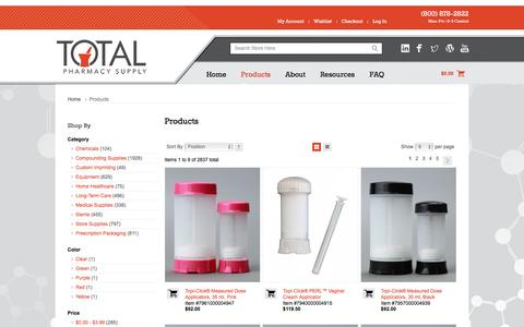 Screenshot of Products Page totalpharmacysupply.com - Pharmacy Products | Pharmaceutical Products | Total Pharmacy Supply - captured Dec. 13, 2016
