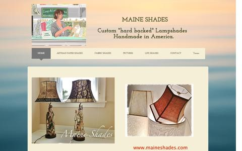 Screenshot of Home Page maineshades.com - Maine Shades, handmade, custom, lampshades, made in America - captured May 10, 2017