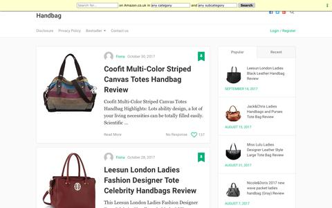 Screenshot of Home Page brandingslovenska.com - Amazon Ladies Handbag – Amazon Ladies Handbag - captured Feb. 3, 2018