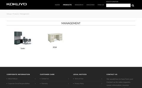 Screenshot of Team Page kokuyo-furniture.com - Management    Kokuyo - captured Oct. 21, 2018