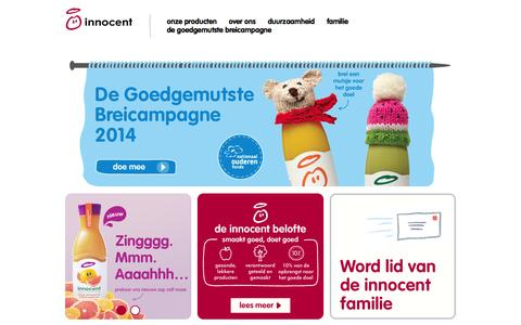 Screenshot of Home Page innocentdrinks.nl - Innocent drinks – pure fruit smoothies - captured Jan. 28, 2015