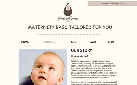 Screenshot of About Page babysoon.com.au - BabySoon | Our Story | How it started - captured May 31, 2017