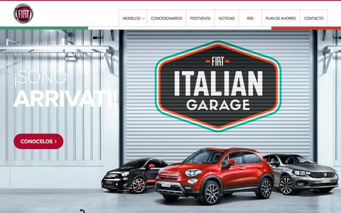Screenshot of Home Page fiat.com.ar - Fiat Argentina - captured Feb. 5, 2018