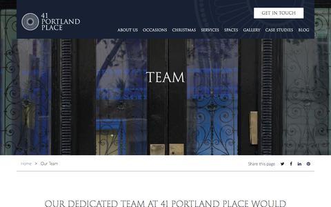 Screenshot of Team Page 41portlandplace.com - Our Team - 41 Portland Place - captured Sept. 21, 2018