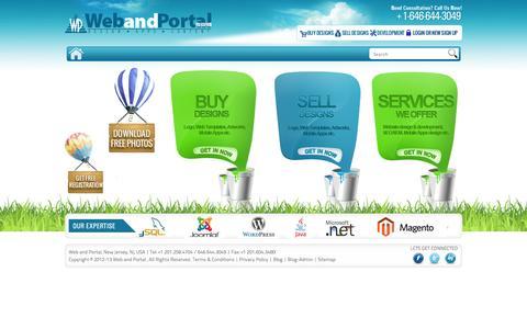 Screenshot of Home Page webandportal.com - Web and Portal.com | Mobile Apps, Social Media Optmization,  Web Development, Application Development, Custom Website Design - captured Oct. 7, 2014