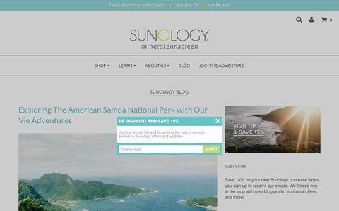 Screenshot of Blog sunology.com - Sunology Blog – Sunology Mineral Sunscreen - captured Oct. 18, 2017