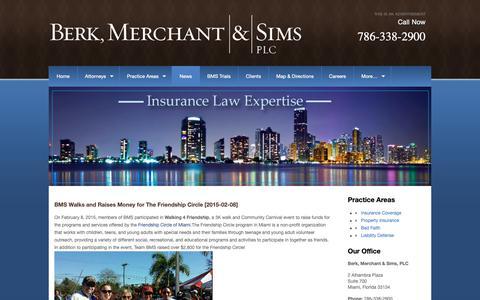 Screenshot of Press Page berklawfirm.com - News - Berk, Merchant & Sims, PLC - captured Oct. 5, 2018