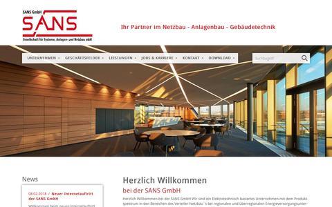 Screenshot of Home Page sans-hn.de - SANS GmbH - SANS GmbH - captured June 6, 2018