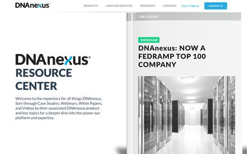 Screenshot of Case Studies Page dnanexus.com - Case Studies | DNAnexus - captured May 16, 2019