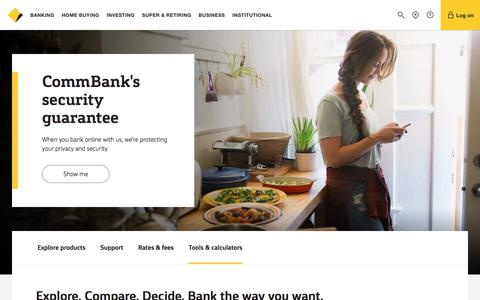 Personal banking including accounts, credit cards and home loans - CommBank