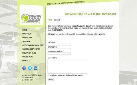 Screenshot of Contact Page okijk.nl - Neem contact op met O kijk! panografie - captured Oct. 3, 2014