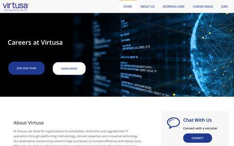Screenshot of Jobs Page virtusa.com - Home | Virtusa - captured Feb. 16, 2019