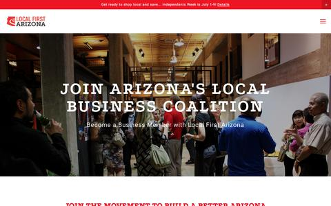 Screenshot of Signup Page localfirstaz.com - Join as a Business — Local First Arizona - captured June 27, 2017