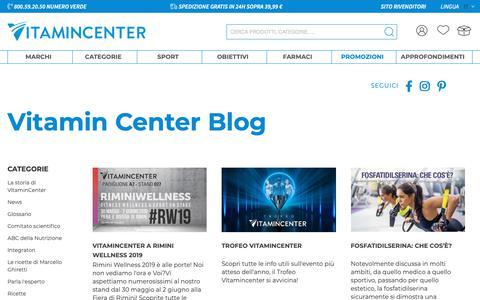 Screenshot of Press Page vitamincenter.it - News - captured June 19, 2019