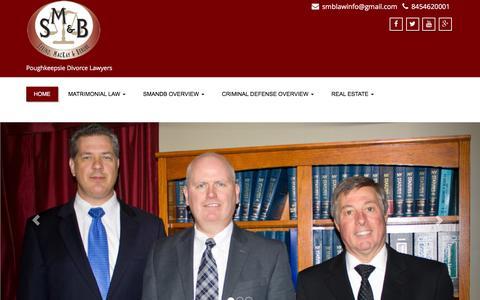 Screenshot of Home Page smandb.com - Poughkeepsie Lawyers | Serino, MacKay & Berube PLLC - captured Feb. 13, 2016