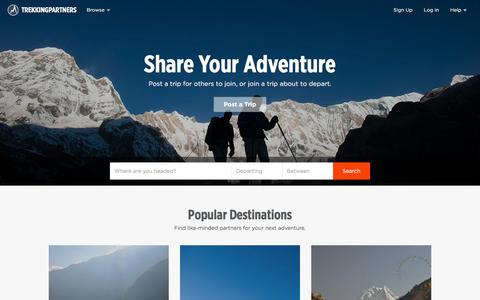 TrekkingPartners: Share Your Adventure