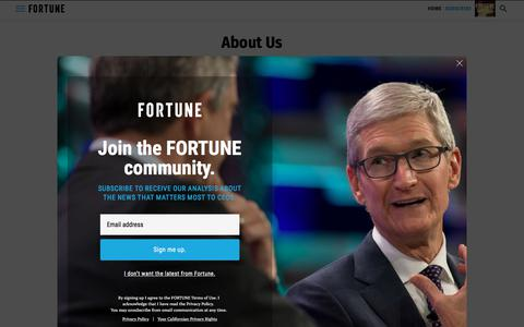 Screenshot of About Page fortune.com - About Us | Fortune - captured Nov. 18, 2019