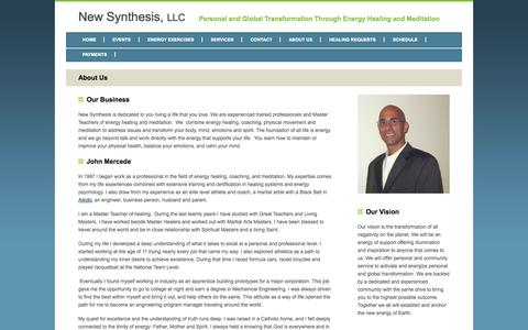 Screenshot of About Page thenewsynthesis.com - New Synthesis, LLC - About Us - captured Oct. 26, 2014
